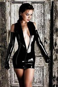 Black Exotic Leather Lingerie