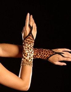 Sexy Cheetah Leopard Animal Print Fingerless Stripper Dancer Gloves