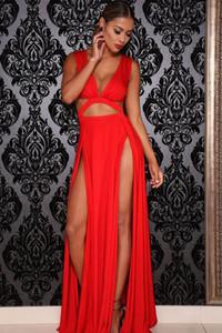 Red Jersey Craving Maxi Dress