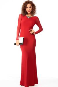 Keep It Classy Red Jersey Maxi Dress