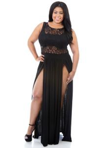 Black Plus Size Reign Maxi Dress