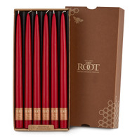 "12"" Dipped Taper Candle Red Box of 12 Candles"