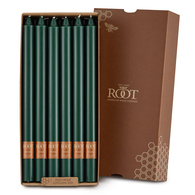 "Smooth 12"" Arista™ Dark Green Box of 12 Candles"