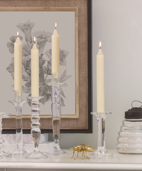 Root Collenette Dinner Candles have a distinctive, formal profile that lends itself to traditional, formal presentation on your dinner table.