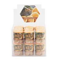 Tangerine Lemongrass 20 Hour Beeswax Blend Box of 18 Votives