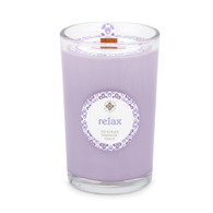 Seeking Balance® 8 oz Medium Spa Candle Geranium Lavender Relax