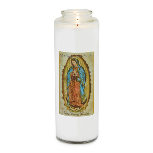 Front of candle. Our Lady of Guadalupe is a powerful symbol of faith. Her image is associated with everything from motherhood to feminism to social justice.