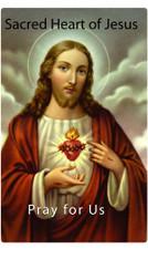Sacred Heart Prayer 7 Day 7C Meditation Candle