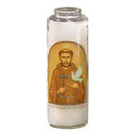 St. Francis of Assisi Prayer 7 Day 7C Meditation Candle