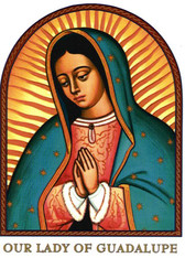 Our Lady of Guadalupe Icon Prayer 7 Day 7C Meditation Candle