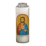 Sacred Heart Icon Prayer 7 Day 7C Meditation Candle