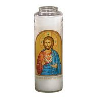 Sacred Heart Icon Prayer 7 Day 7C Meditation Candle