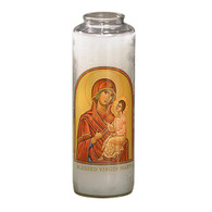 Blessed Virgin Mary Prayer 7 Day 7C Meditation Candle
