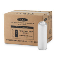 7 Day Clear Meditation Candle Case of 12