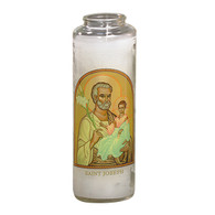 St. Joseph Icon Prayer 7 Day 7C Meditation Candle