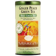 The Republic of Tea Ginger Peach Green Tea