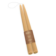 "Beeswax 12"" Double Hung Dipped Taper Pair"