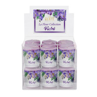 Violet La Fleur 20 Hour Beeswax Blend Box of 18 Votives