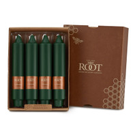 """7"""" Smooth Collenette Dark Green Box of 4 Candles"""
