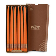 """12"""" Dipped Taper Candle Pumpkin Box of 12 Candles"""