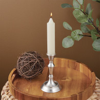 Small Pewter Finish Dinner Candle Holder