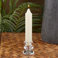 Clear Glass Dinner Candle Holder