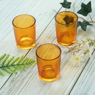 Votive Glass Amber
