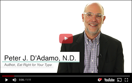 Listen to Dr. Peter J. D'Adamo explain the importance of knowing your blood type