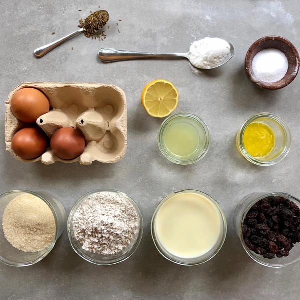 Aunt Peg's Irish Soda Bread Ingredients