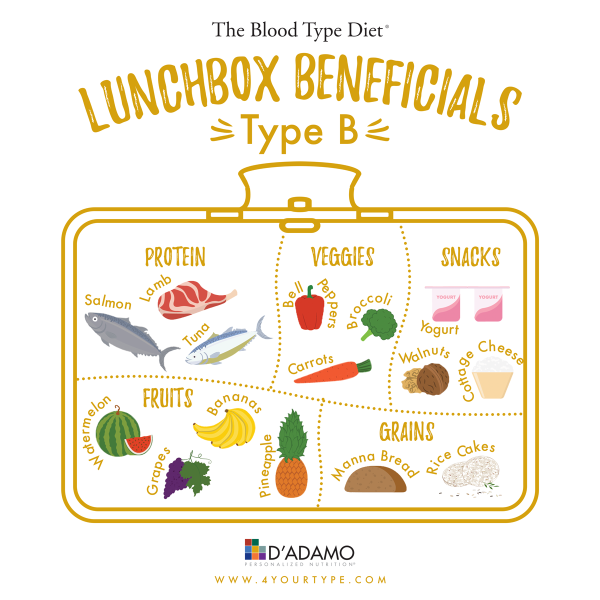 Lunchbox Beneficials Blood Type B