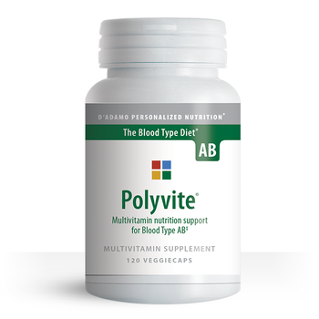 Blood Type Diet specific multivitamin for Type AB - Polyvite AB