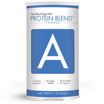 Clean protein powder blend with no added sugar personalized for Blood Type A