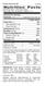 Protein Blend Powder B/AB - Supplement Facts