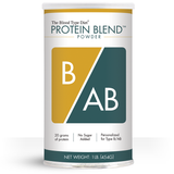 Clean protein powder blend with no added sugar personalized for Blood Type B/AB
