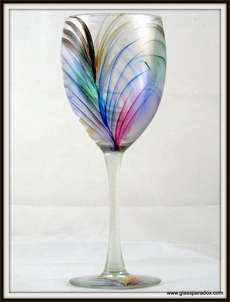 Hand-painted Fan Goblet