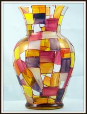 Hand-painted Autumn Urn Vase
