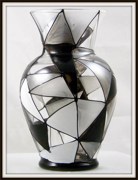 Hand-painted Granite Urn Vase