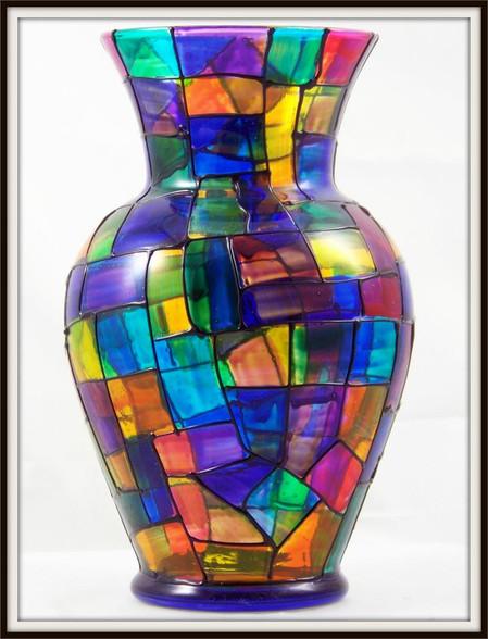 Hand-painted Sanctuary Urn Vase