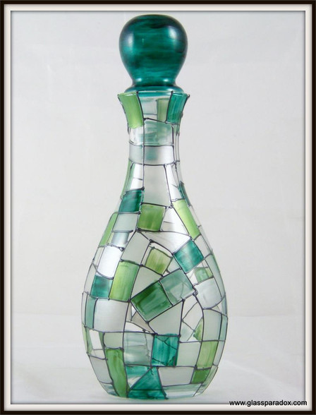 Hand-painted Sea-foam Decanter