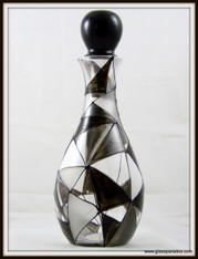 Hand-painted Granite Decanter