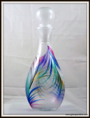 Hand-painted Fan Decanter