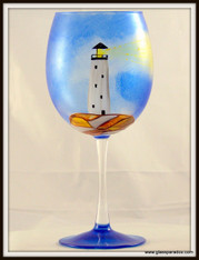 Hand-painted Lighthouse Grand Goblet