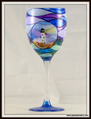 Hand-painted Spyglass Goblet