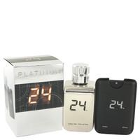 24 Platinum The Fragrance Jack Bauer By Scentstory Eau De Toilette Spray + 0.8 oz Mini Pocket Spray for Men