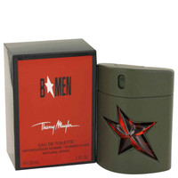 B for Men By Thierry Mugler 1 oz Eau De Toilette Spray Rubber Flask for Men