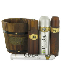 Cuba Gold By Fragluxe Gift Set with Deodorant Body Spray for Men