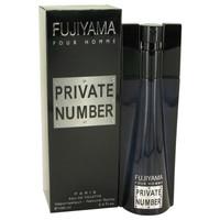 Fujiyama Private Number By Succes De Paris 3.3 oz Eau De Toilette Spray for Men