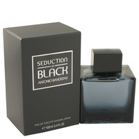 Seduction In Black By Antonio Banderas 3.4 oz Eau De Toilette Spray for Men