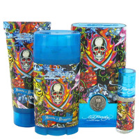 Ed Hardy Hearts & Daggers By Christian Audigier Gift Set with Deodorant Stick for Men