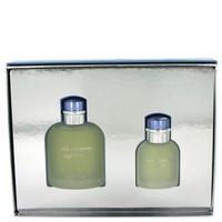 Light Blue By Dolce & Gabbana Gift Set with Eau De Toilette Spray for Men